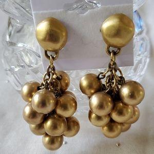 Faux Gold Pearls  Pierced